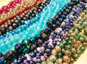 Plated Natural Gemstone beads